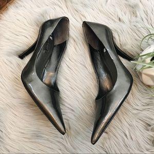 Nine West Pewter Heels